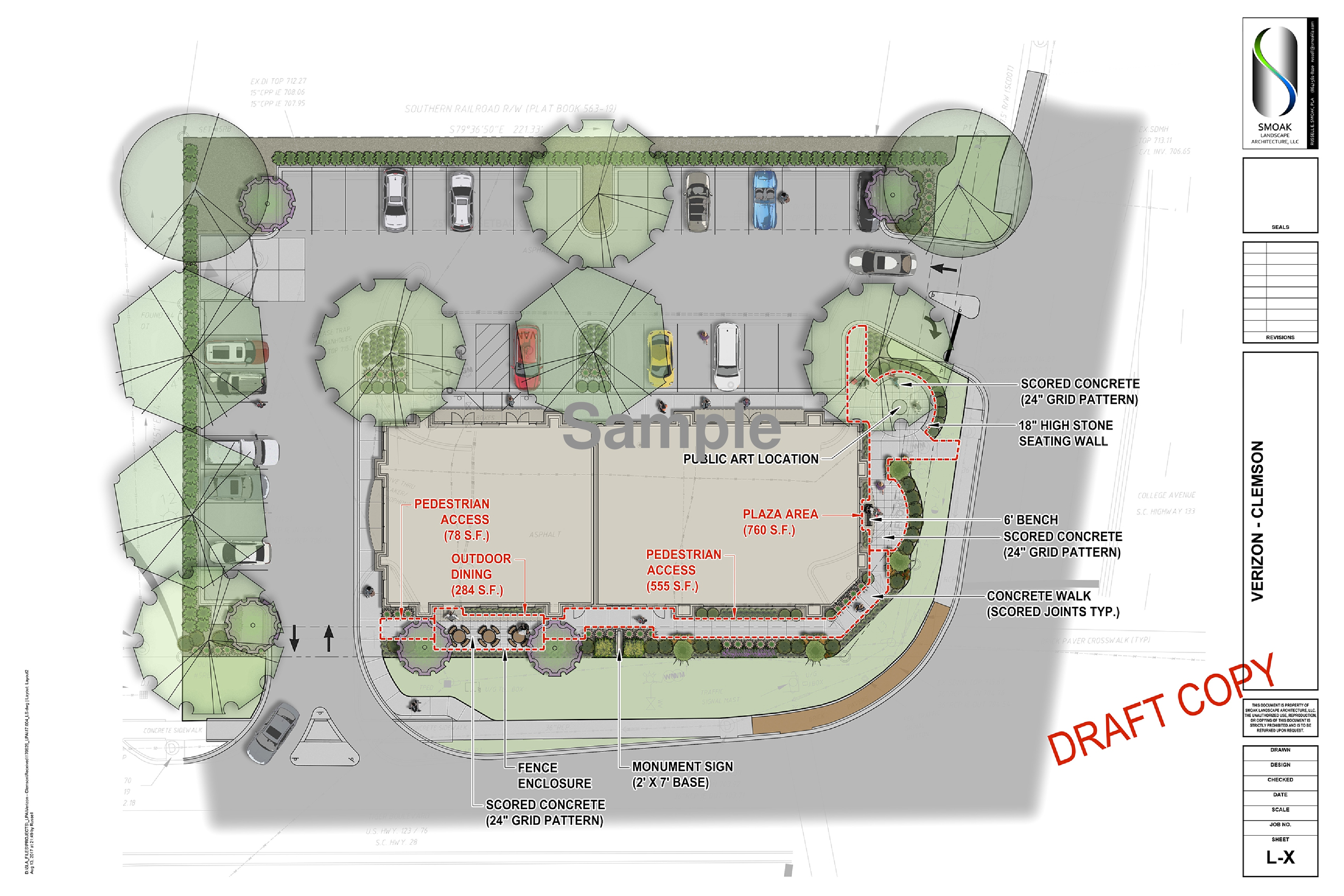 Retail Restaurant Space Available For Lease 1075 Tiger Blvd Schematic Clemson
